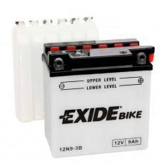 Moto akumulator 12V 9Ah 90A EXIDE 12N9-3B 135x75x139mm