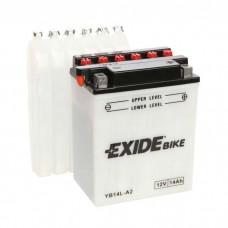 Moto akumulator 12V 14Ah 145A EXIDE EB14L-A2 134x89x166mm / YB14L-A2