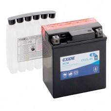 Moto akumulator 12V 6Ah 90A EXIDE ETX7L-BS 113x70x130mm / YTX7L-BS