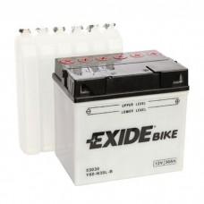Moto akumulator 12V 30Ah 300A EXIDE Y60-N30L-B 185x128x168mm