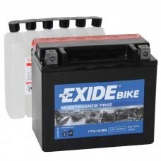 Moto akumulator 12V 10Ah 180A EXIDE ETX12-BS 150x87x130mm / YTX12-BS