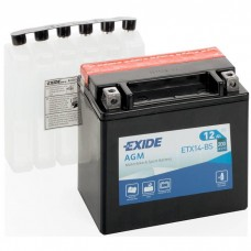 Moto akumulator 12V 12Ah 200A EXIDE ETX14-BS 150x87x145mm / YTX14-BS