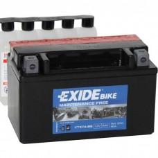 Moto akumulator 12V 6Ah 90A EXIDE ETX7A-BS 150x87x93mm / YTX7A-BS