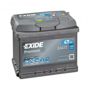 Akumulator Exide Premium 47Ah 450A, Desni +, EA472