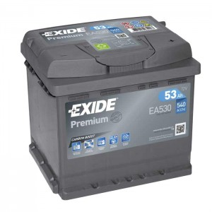 Akumulator Exide premium 53Ah 540A, Desni+, EA530
