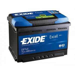 Akumulator Exide Excell 60Ah 540A, Desni +, EB602