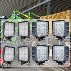 8- delni komplet Delovnih LED luči - Paket traktorist XL