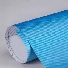 3D karbon folija modra - širina 1,52m