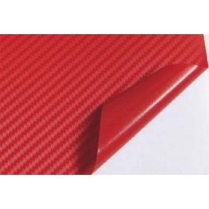 3D karbon folija rdeča - širina 1,52m