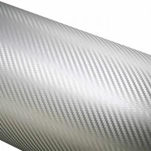 3D karbon folija srebrna - širina 1,52m
