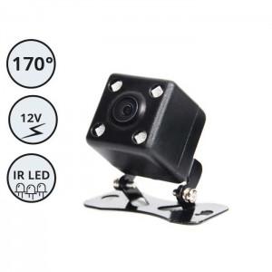 Kamera za vzratno vožnjo 12V / 170° vidni kot / Nadgradna / IR LED