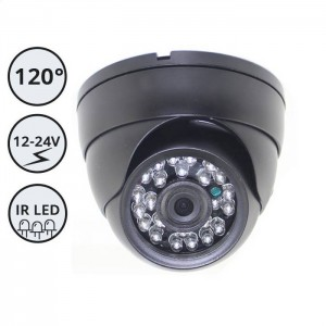Nadgradna kamera za delovne stroje in vozila / 12-24V / IR LED / IP67