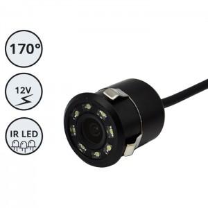 Kamera za vzratno vožnjo 12V / 170° vidni kot / Vgradna / IR LED / Okrogla