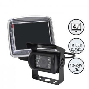 """Kamera za vzvratno vožnjo z monitorjem 3,5"""" / Nadgradna"""