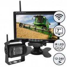 LCD zaslon 7 inčev + kamera IR LED / 12-24V / Wifi sistem povezave / IP67