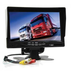LCD zaslon 7 inčev 12-24V - TFT barvni / 2x Video vhod
