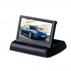 LCD zaslon 4,3 inče 12-24V - TFT barvni / Zložljiv