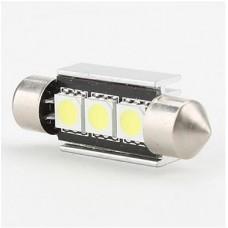 LED žarnica CEVNA 36mm 24V / Canbus / 3x SMD 5050