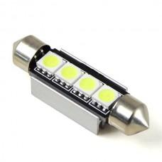 LED žarnica CEVNA 42mm 24V / Canbus / 4x SMD 5050