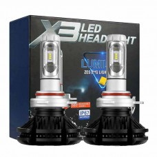 H4 LED kit X3 Lumileds ZES2 - 6000lm / 12-24V