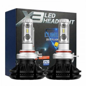 H11 LED kit X3 Lumileds ZES2 - 6000lm / 12-24V