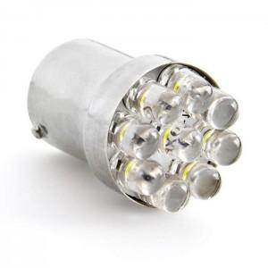 LED žarnica Ba15S / P21W, enopolna, 24V, 9 LED