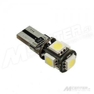 LED žarnica T10 - W5W, Canbus 5x5050 SMD