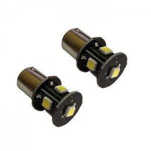 LED žarnice BA15S / P21W, enopolna, 12V, 5 SMD LED