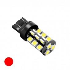 LED žarnica 7443 - W21/5W Canbus, 27 LED, dvopolna - Rdeča