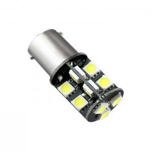 LED žarnica Ba15D Canbus, 19 LED, dvopolna