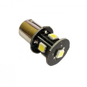LED žarnica BA15S / P21W, enopolna, 24V, 5 SMD LED