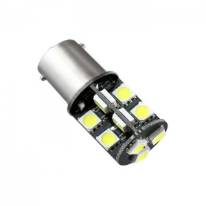 LED žarnica Ba15S - P21W, Canbus, 19 LED, enopolna