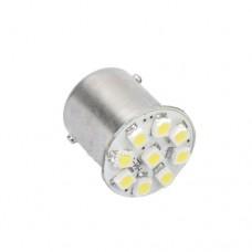 LED žarnica Ba15S - P21W, 9 LED, enopolna