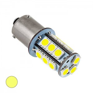 LED žarnica BaU15S, 18 LED, enopolna - Rumena