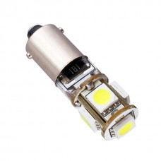 LED žarnica Ba9S T4W, Canbus 5x5050 SMD