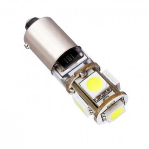 LED žarnica BaX9S, Canbus 5x5050SMD