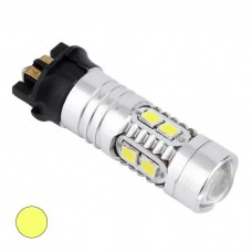 LED žarnica PW24W - 10 LED SMD2835 / 10W - Rumena