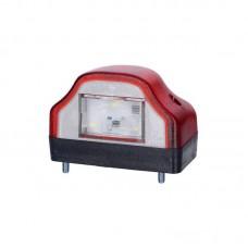 LED luč za osvetlitev tablice LTD232 - 12/24V, rdeče ohišje