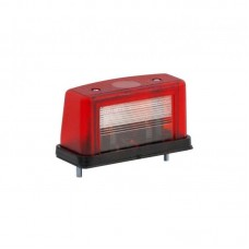 Luč za osvetlitev tablice W08 - 12/24V, rdeče ohišje