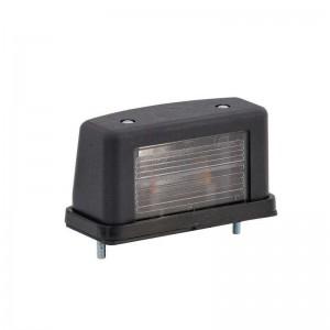 Luč za osvetlitev tablice LT105 - 12/24V, črno ohišje