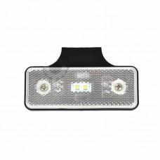 Pozicijska luč LED - Bela 12V/24V z nosilcem