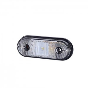 Pozicijska luč LED LD632 - Bela 12V/24V, kabel