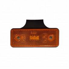 Stranska pozicijska luč LED - Rumena 12V/24V z nosilcem