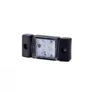Pozicijska luč LED LD140 - Bela 12V/24V, kabel