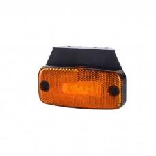 Pozicijska luč LED LD180 - Rumena 12V/24V, z nosilcem, kabel