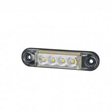 Pozicijska luč LED Slim LD2327 - Bela 12V/24V, kabel