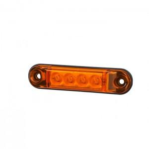 Pozicijska luč LED Slim LD2328 - Rumena 12V/24V, kabel