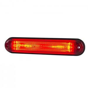Pozicijska luč LED Line LD2334 - Rdeča 12V/24V, kabel