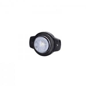 Pozicijska luč LED LD358 okrogla - Bela 12V/24V, kabel