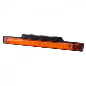 Pozicijska luč LED Slim Line LD565 z nosilcem - Oranžna 12V/24V, kabel